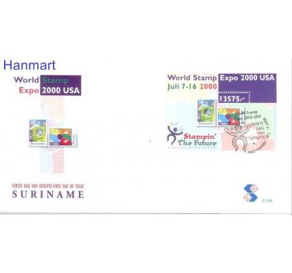 Znaczek Surinam 2000 Mi bl 79 FDC
