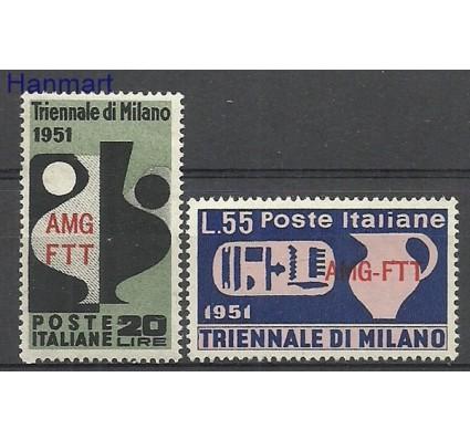 Znaczek Triest - Włochy 1951 Mi 155-156 Czyste **