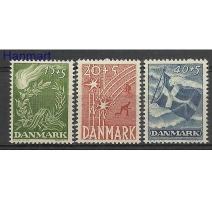 Znaczek Dania 1947 Mi 295-297 Czyste **