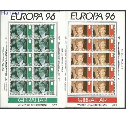 Znaczek Gibraltar 1996 Mi ark 755-758 Czyste **