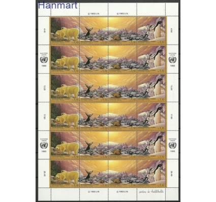 Znaczek Narody Zjednoczone Genewa 1993 Mi ark 239-242 Czyste **