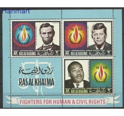 Znaczek Ras Al Khaima 1968 Mi bl 41 Czyste **