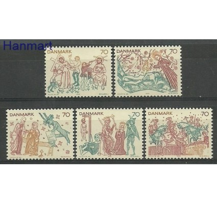 Znaczek Dania 1973 Mi 550-554 Czyste **