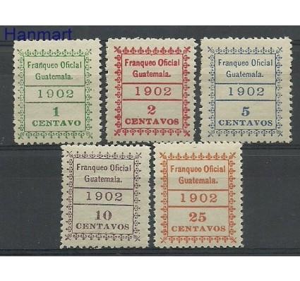 Znaczek Gwatemala 1902 Mi 1-5 Z podlepką *
