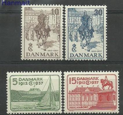 Znaczek Dania 1937 Mi 237-240 Z podlepką *
