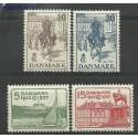 Dania 1937 Mi 237-240 Z podlepką *