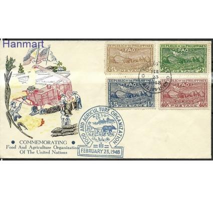 Znaczek Filipiny 1948 Mi 483-486 FDC