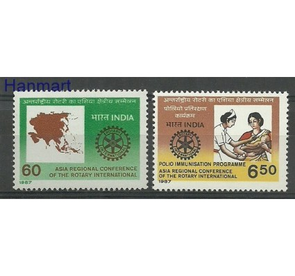 Znaczek Indie 1987 Mi 1112-1113 Czyste **