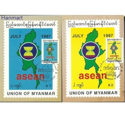Znaczek Myanmar 1997 Mi 338-339 Karty pocztowe stemplowane