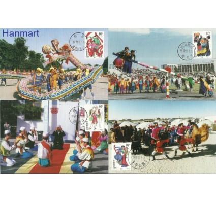Znaczek Chiny 1999 Mi 3030-3085 Karta Max