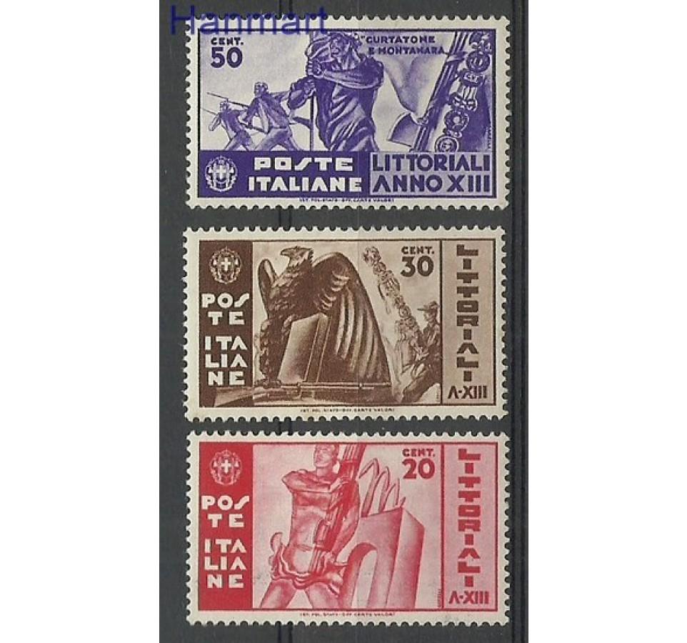 Włochy 1935 Mi 520-522 Z podlepką *