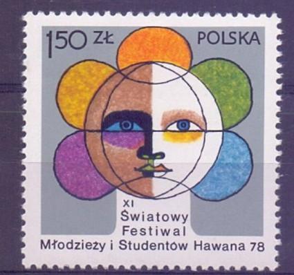 Znaczek Polska 1978 Mi 2565 Fi 2418 Czyste **