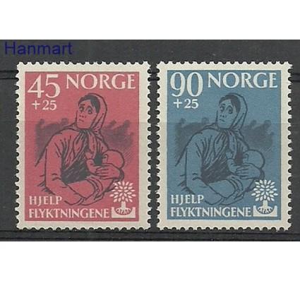 Znaczek Norwegia 1960 Mi 442-443 Czyste **