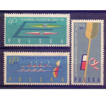 Polska 1961 Mi 1254-1256 Fi 1110-1112B Czyste **