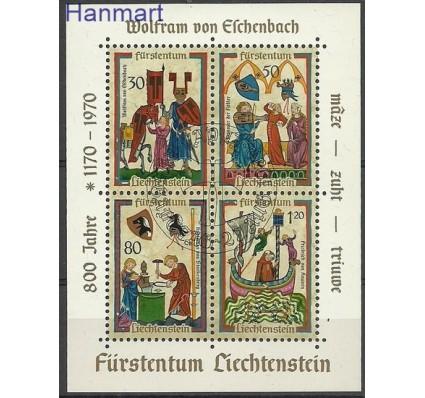 Znaczek Liechtenstein 1970 Mi bl 8 Stemplowane