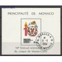 Monako 1984 Mi bl 27 Stemplowane