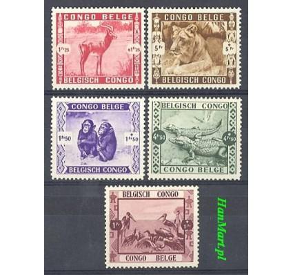 Znaczek Kongo Belgijskie 1939 Mi 185-189 Czyste **