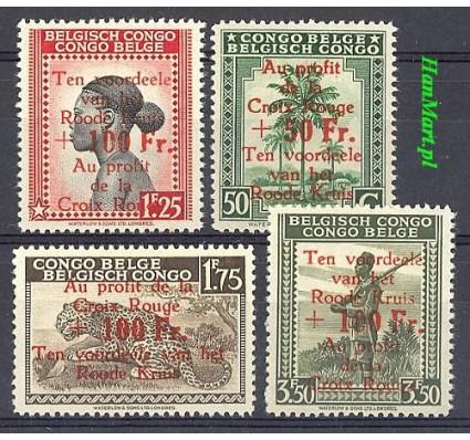 Znaczek Kongo Belgijskie 1944 Mi 248-251 Czyste **