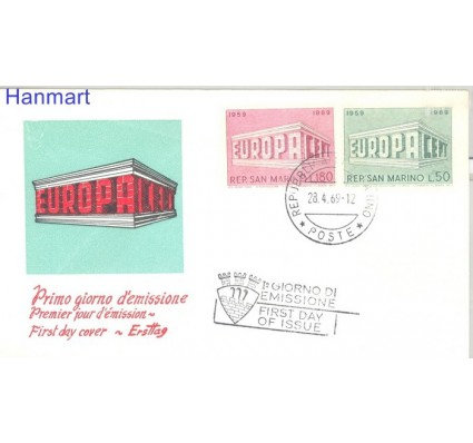 Znaczek San Marino 1969 Mi 925-926 FDC
