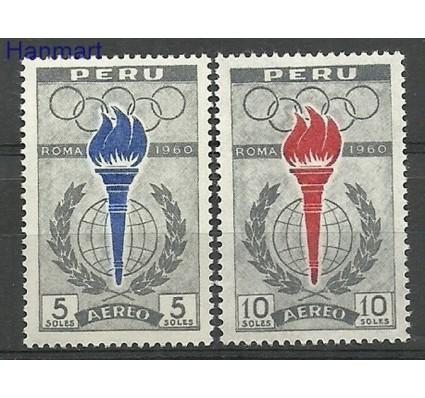 Znaczek Peru 1961 Mi 605-606 Czyste **