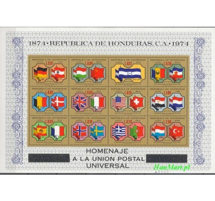 Znaczek Honduras 1975 Mi bl 25 Czyste **