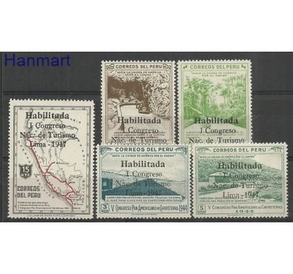 Znaczek Peru 1947 Mi 451-455 Czyste **