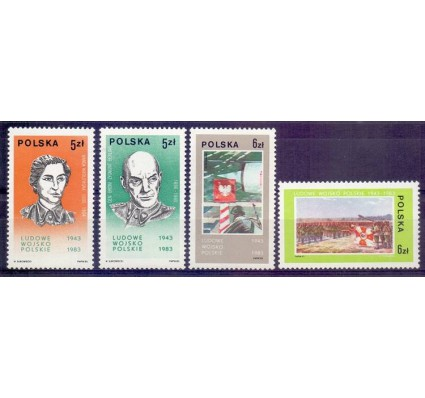 Znaczek Polska 1983 Mi 2883-2886 Fi 2735-2738 Czyste **