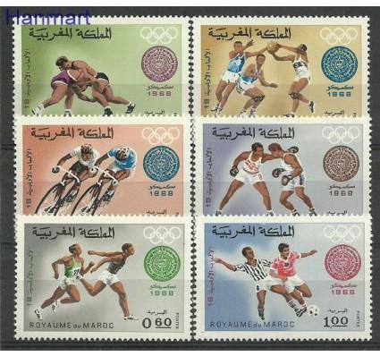Znaczek Maroko 1968 Mi 636-640 Czyste **