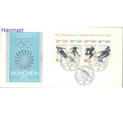 Znaczek Niemcy 1971 Mi bl6 FDC