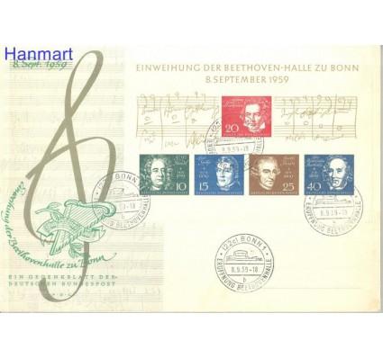 Znaczek Niemcy 1959 Mi bl2 FDC