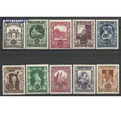 Znaczek Austria 1947 Mi 812-821 Czyste **