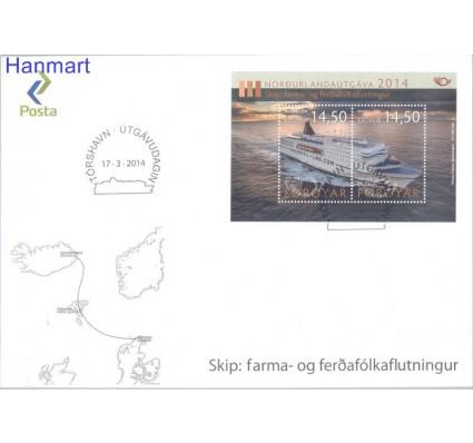 Znaczek Wyspy Owcze 2014 Mi bl 34 FDC