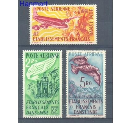 Znaczek Indie Francuskie 1948 Mi 299, 300, 302 Czyste **