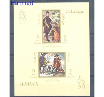 Znaczek Ajman / Adżman 1968 Mi bl38 Czyste **