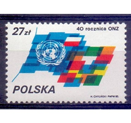 Znaczek Polska 1985 Mi 3004 Fi 2856 Czyste **