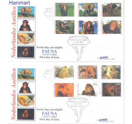 Znaczek Antyle Holenderskie 2004 Mi 1274-1285 FDC