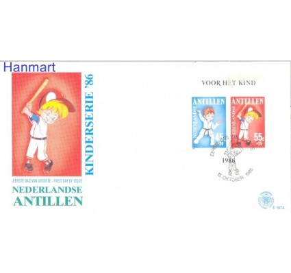Znaczek Antyle Holenderskie 1986 Mi bl30a FDC