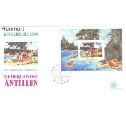 Znaczek Antyle Holenderskie 1989 Mi bl34 FDC
