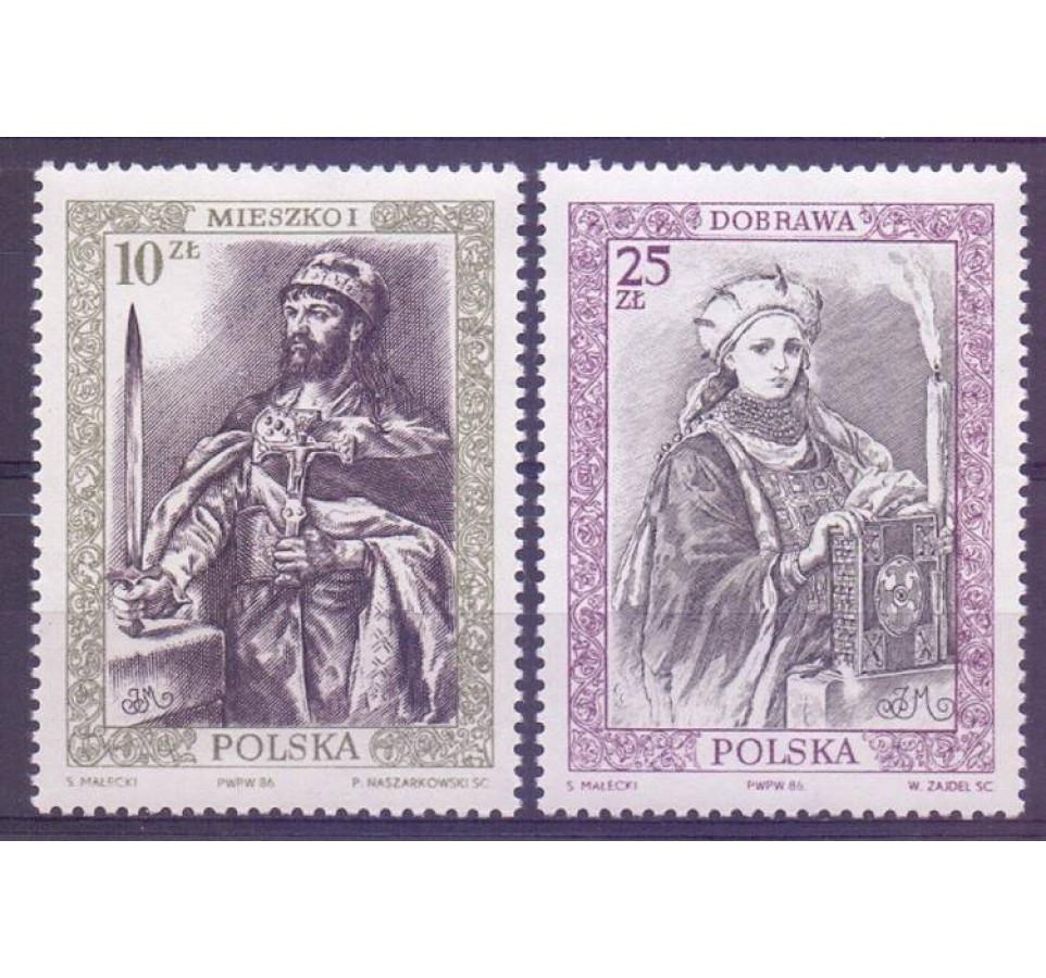 Polska 1986 Mi 3066-3067 Fi 2918-2919 Czyste **