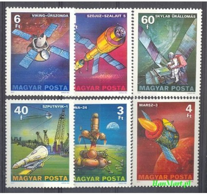 Węgry 1977 Mi 3214-3219 Czyste **