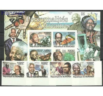 Znaczek Burundi 2011 Mi 2242-2245B+bl185B Czyste **