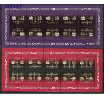 Znaczek Łotwa 1994 Mi ark 376-377 Czyste **