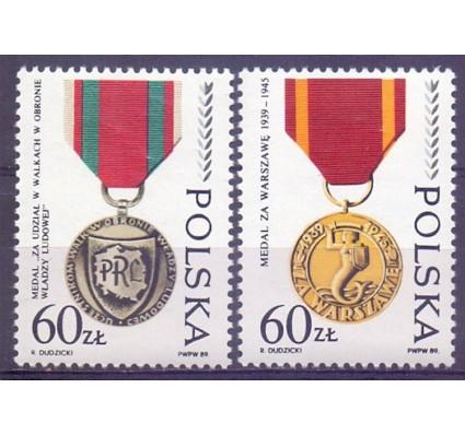 Polska 1989 Mi 3225-3226 Fi 3077-3078 Czyste **
