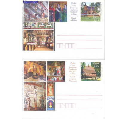 Znaczek Polska 2010 Fi Cp 1546-1547 Całostka pocztowa