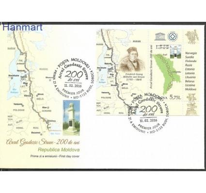Znaczek Mołdawia 2016 Mi bl 71 FDC