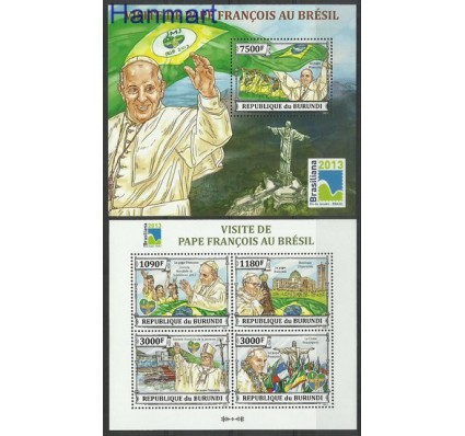 Znaczek Burundi 2013 Mi ark3303-3306+bl385 Czyste **
