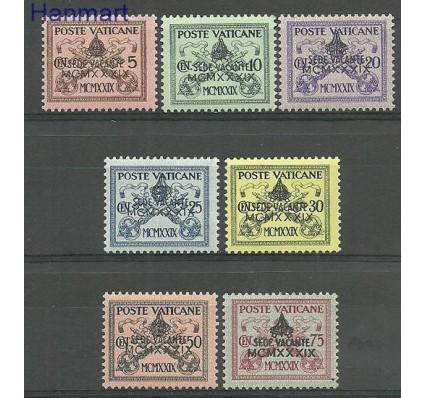 Znaczek Watykan 1939 Mi 73-79 Z podlepką *