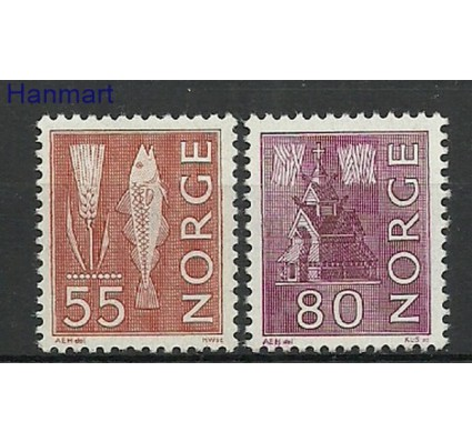 Znaczek Norwegia 1968-1970 Mi 504-505y Czyste **
