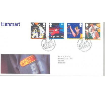 Znaczek Wielka Brytania 1991 Mi 1341-1344 FDC