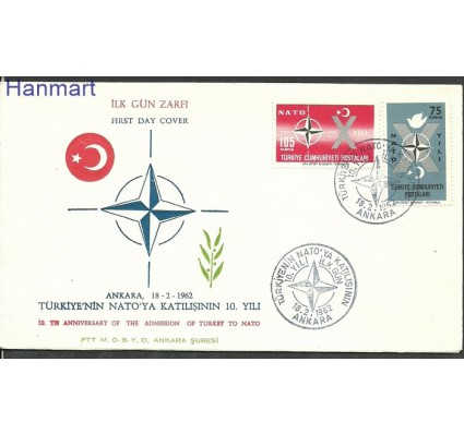Znaczek Turcja 1962 Mi 1830-1831 FDC